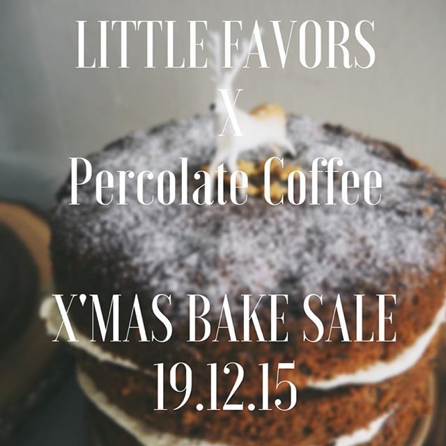 percolate bake sale